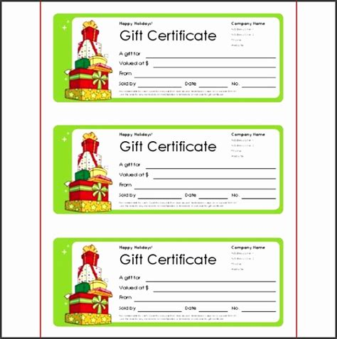 Small Gift Cards Templates by 5 Gift Voucher Template Free