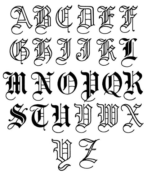 tattoo old english alphabet old english lettering old english lettering 10 jpg