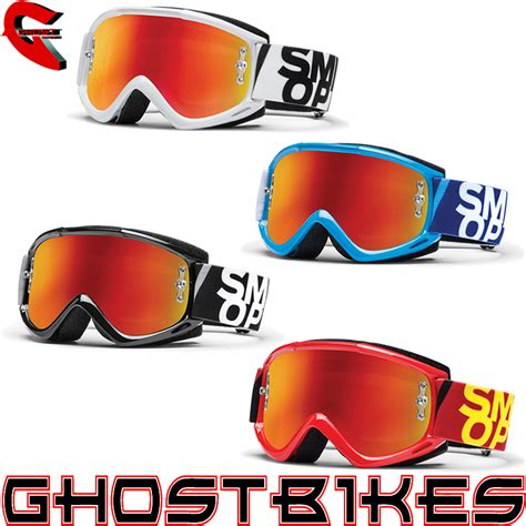 mirrored motocross goggles smith fuel v 1 v1 max m spiegel visier antibeschlag