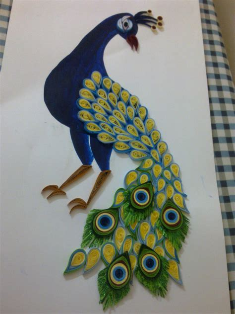How To Make Paper Quilling Peacock - quilled peacock ruvini de silva sri lanka ruvinise