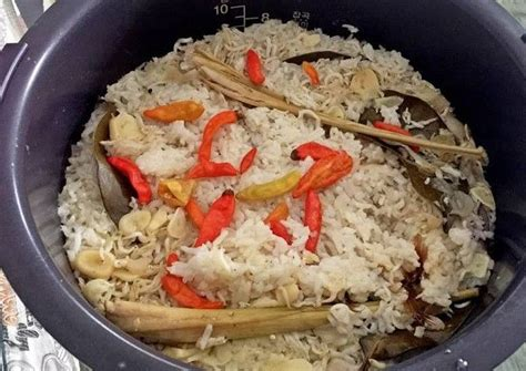 resep nasi liwet  rice cooker gak pakai ribet ribet