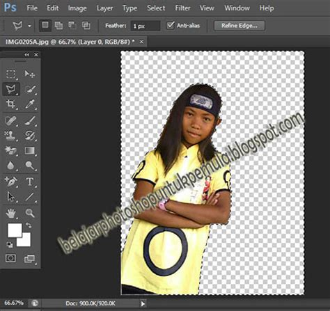 tutorial photoshop cs6 ganti background cara edit background foto dengan photoshop cs6 belajar