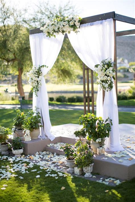 diy wedding altar decorations 25 best ideas about outdoor wedding backdrops on