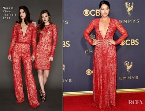 Catwalk To Carpet Naeem Khan Carpet Style Awards 2 by Rodriguez In Naeem Khan 2017 Emmy Awards