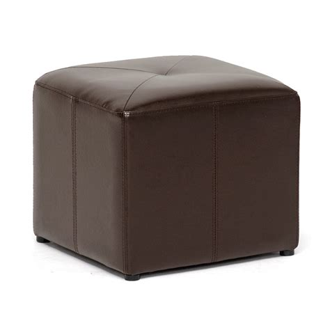 who are ottomans dark brown bonded leather cube ottoman