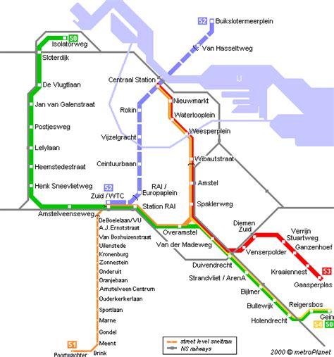 netherlands ns map metroplanet gt europe gt netherlands gt amsterdam metro