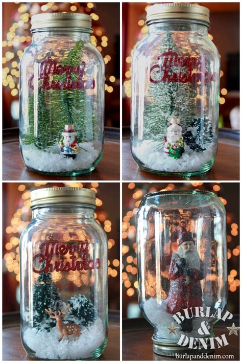 diy decorations snow globe diy jar snow globe snow globes jars