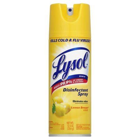 lysol lemon breeze scent disinfectant spray oz walmartcom