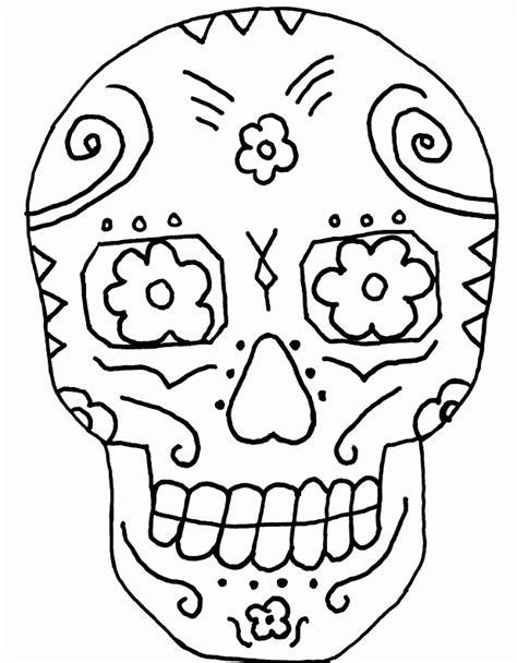 el dia de los muertos skulls coloring pages az coloring