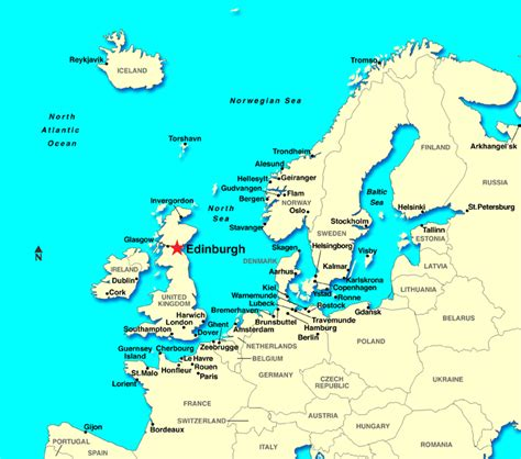Scotland World Map by Edinburgh Scotland Discount Cruises Last Minute