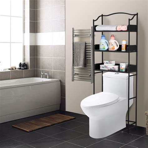 tier metal mdf   toilet storage shelf bathroom
