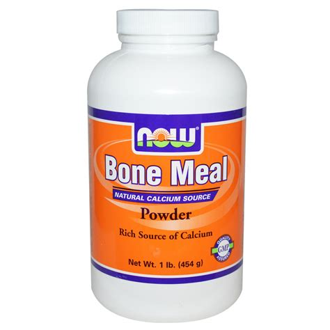 Now Foods, Bone Meal, Powder, 1 lb (454 g)   iHerb.com