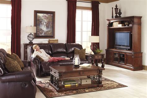 Living Room Furniture Sets Power Reclining Walworth Blackcherry Power Reclining Living Room Set From