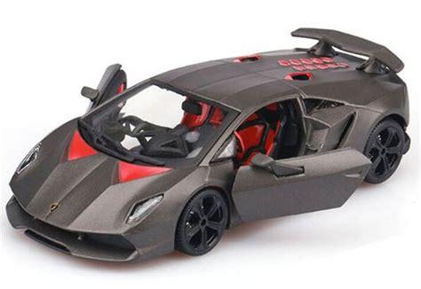 Diecast Bburago 1 24 Model Lamborghini Sesto Elemento gray 1 24 bburago diecast lamborghini sesto elemento model nb9t586 ezbustoys
