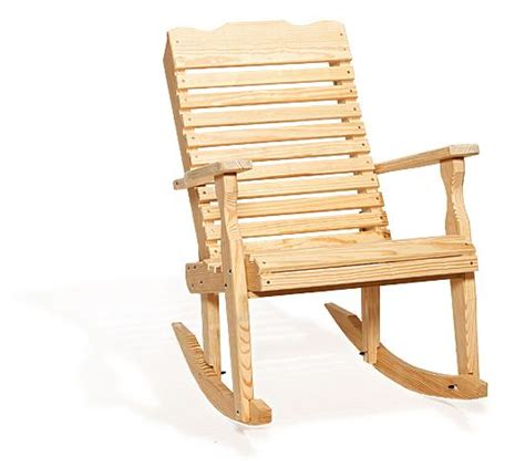 Patio Rocking Chairs Wood Amish Pine Wood Curve Back Patio Rocking Chair