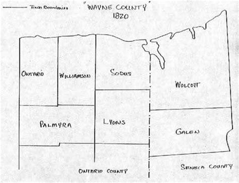 wayne county section 8 wayne county ny town boundary maps