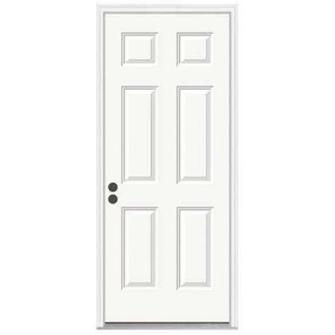 jeld wen premium 6 panel primed steel entry door with