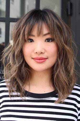 medium length grayish hairstyles for full figure 36 modern medium hairstyles with bangs for a new look