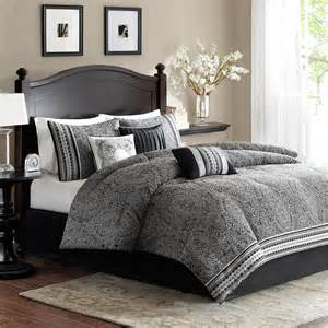 beautiful modern elegant black white grey comforter set