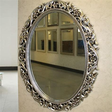 Framed Oval Mirrors For Bathrooms Decorative Oval Bathroom Mirrors Decor References