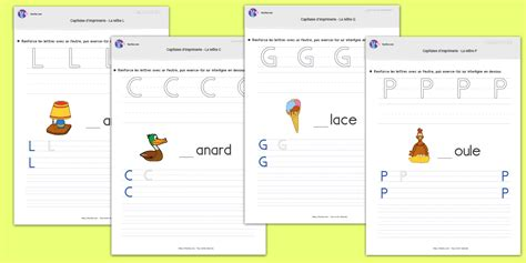 Modele D écriture Lettre Alphabetique