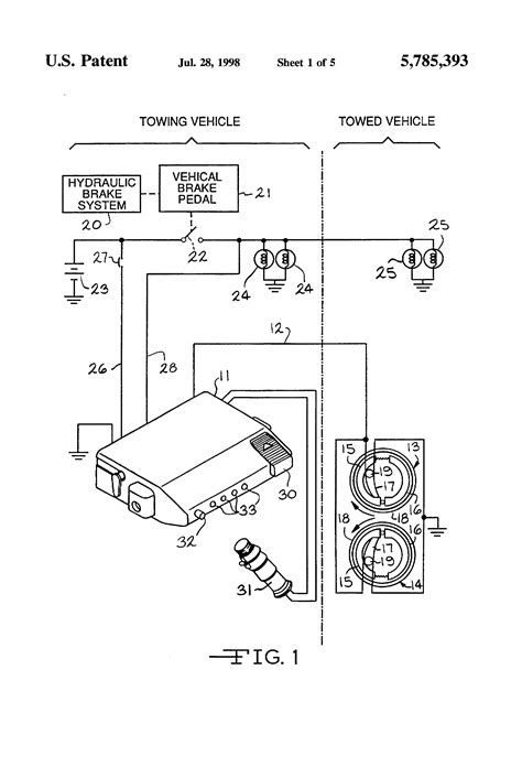 patent us5785393 electronic trailer brake controller