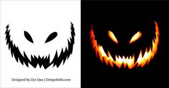 10 free scary halloween pumpkin carving patterns stencils amp ideas