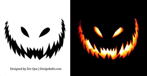 free pumpkin templates carving 10 free scary pumpkin carving patterns