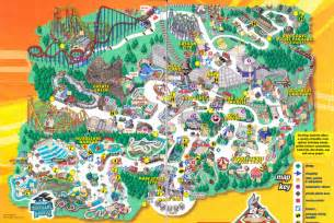 map of six flags six flags america park map america map