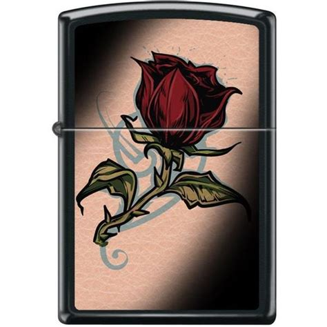 tattoo with pen and lighter zippo lighter rose tattoo black matte lighter usa