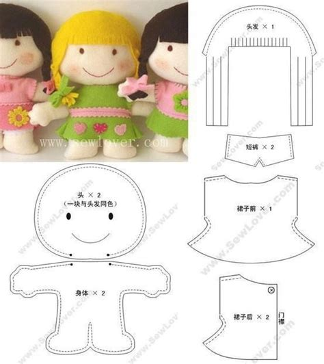 free pattern felt doll felt doll pattern felt toys and dolls waldorf toys