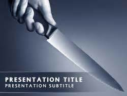 Murder Powerpoint Template by Royalty Free Crime Powerpoint Template In Blue