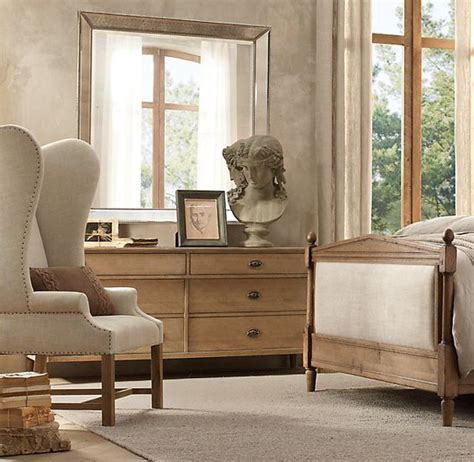 dresser mirror restoration hardware and master bedrooms