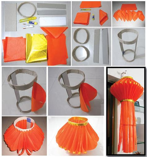 Handmade Crafts For Diwali - diwali lantern paper lanterns and make paper on