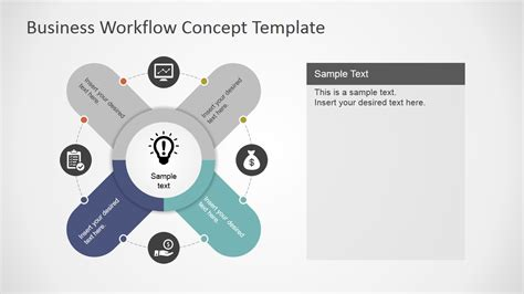 workflow concepts business workflow concept template for powerpoint slidemodel