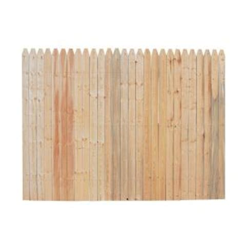Home Depot Fence Panels by 6 Ft X 8 Ft Spruce Pine Fir Stockade Fence Panel 8847