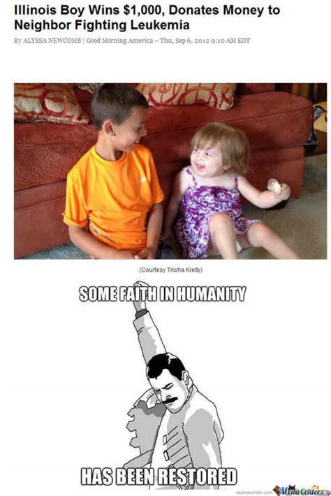 Leukemia Meme - faith in humanity restored meme leukemia runt of the web