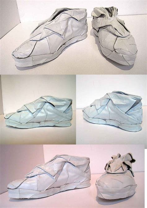 How To Make Shoes With Paper - origami shoes nuo chen