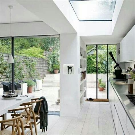 Terrace Interiors by Open Plan Kitchen Extension On Terrace Sky