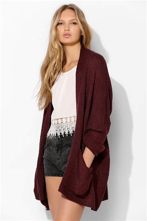 Modelling Cardigan bdg rolled sleeve open cardigan outfitters