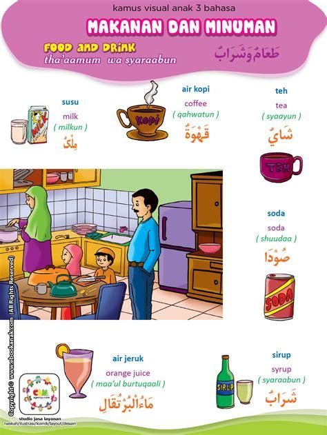 Kamus Seri 3 Bahasa Inggris Jerman Indoneaia makanan dan minuman 2 ebook anak