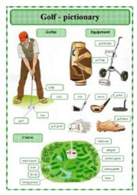 golf swing terms english worksheet golf pictionary