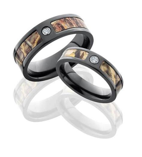 camouflage wedding rings pictures