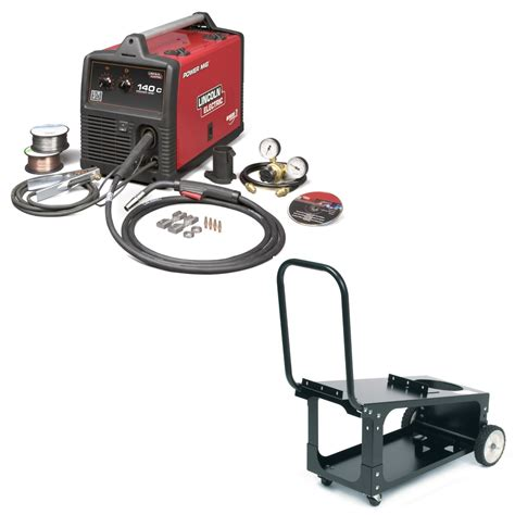 lincoln welders 140 lincoln power mig 140c mig welder with cart for sale