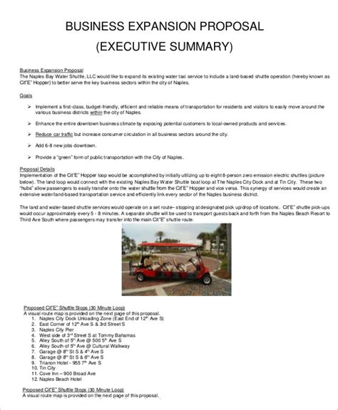 template for business expansion plan business proposal template 16 free sle exle