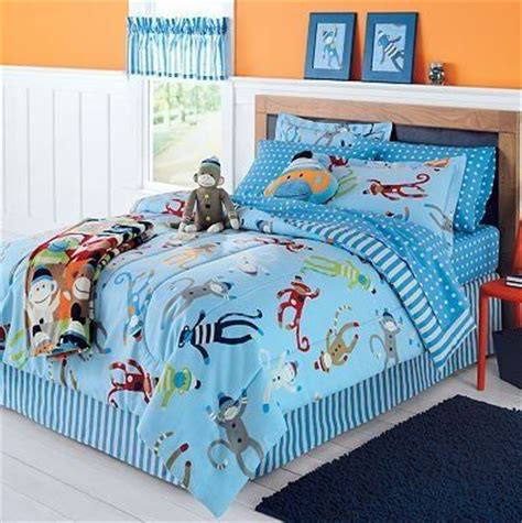 Sock Monkey Complete 6 Piece Bedding Set Twin From Monkey Bedding Set