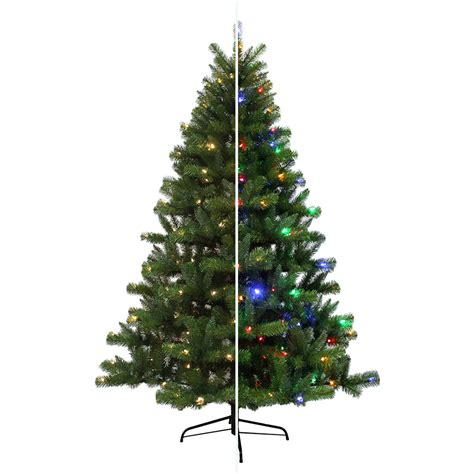 artificial christmas tree with led lights shop holiday living 6 5 ft 1000 count pre lit seneca pine
