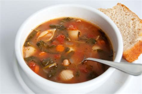 soup of the day minestrone with spinach