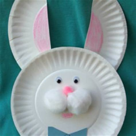 Bunny Paper Plate Craft - paper plate easter bunny easy craft tip junkie