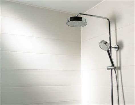 Bien Revetement Pvc Mural Salle De Bain #7: lambris-pvc-murs-douche-couleur-blanc.jpg